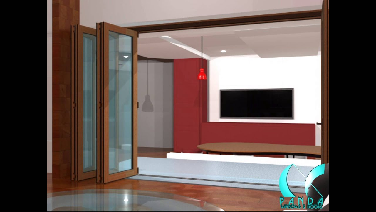 Panda S.66 Solid Wood Folding Door System - YouTube