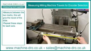 how to measure milling machine travels for dro encoder selection and digital readout