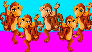 Five Little Monkeys | Kids Songs & Nursery Rhymes Sweet Emily