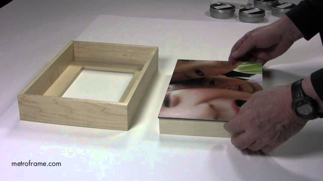 how to attach mounted photographs to wood floater frames youtube