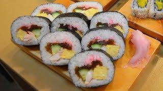 寿司職人による巻き寿司 太巻き編〜How To Make Sushi Roll〜