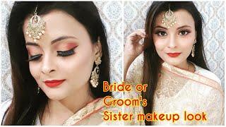 Bride / Groom's Sister makeup look for wedding | wedding Guest Makeup | makeup for white dress