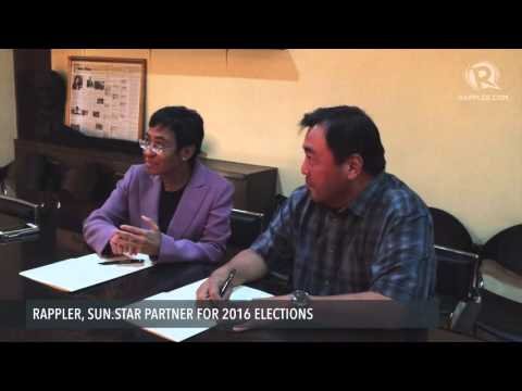 Rappler, Sun.Star partner for 2016 elections