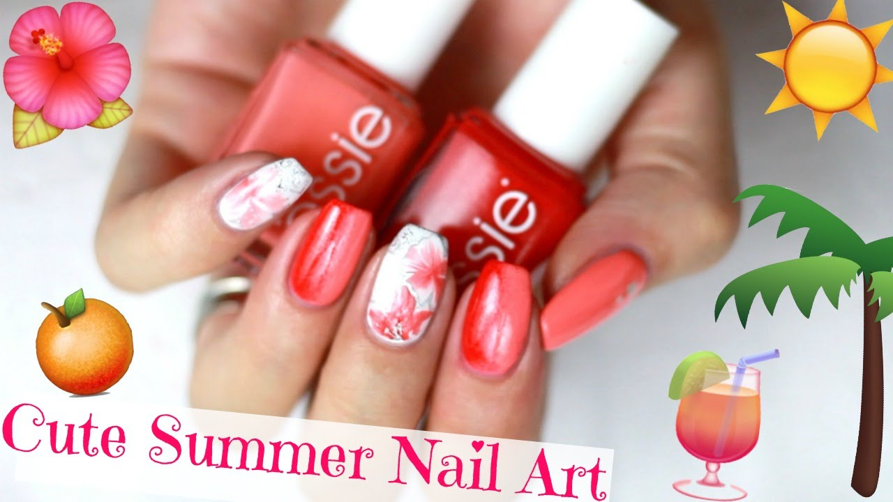 SUMMER FLOWERS NAIL ART 🌺🍹 Sommer Nageldesign ☀ Easy Blumen ...