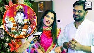 शादी के बाद पहली बार सीमा सिंह ने पति के साथ की गणेश पूजा इंटरव्यू में खोले कई राज