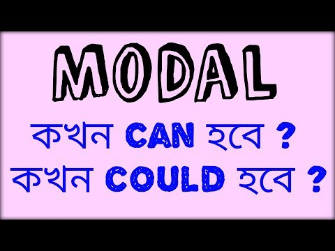 Modal   when to use can, when to use could