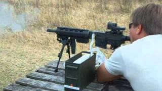 22lr full auto belt fed 1000rnds machine gun lm7 colt m16a1