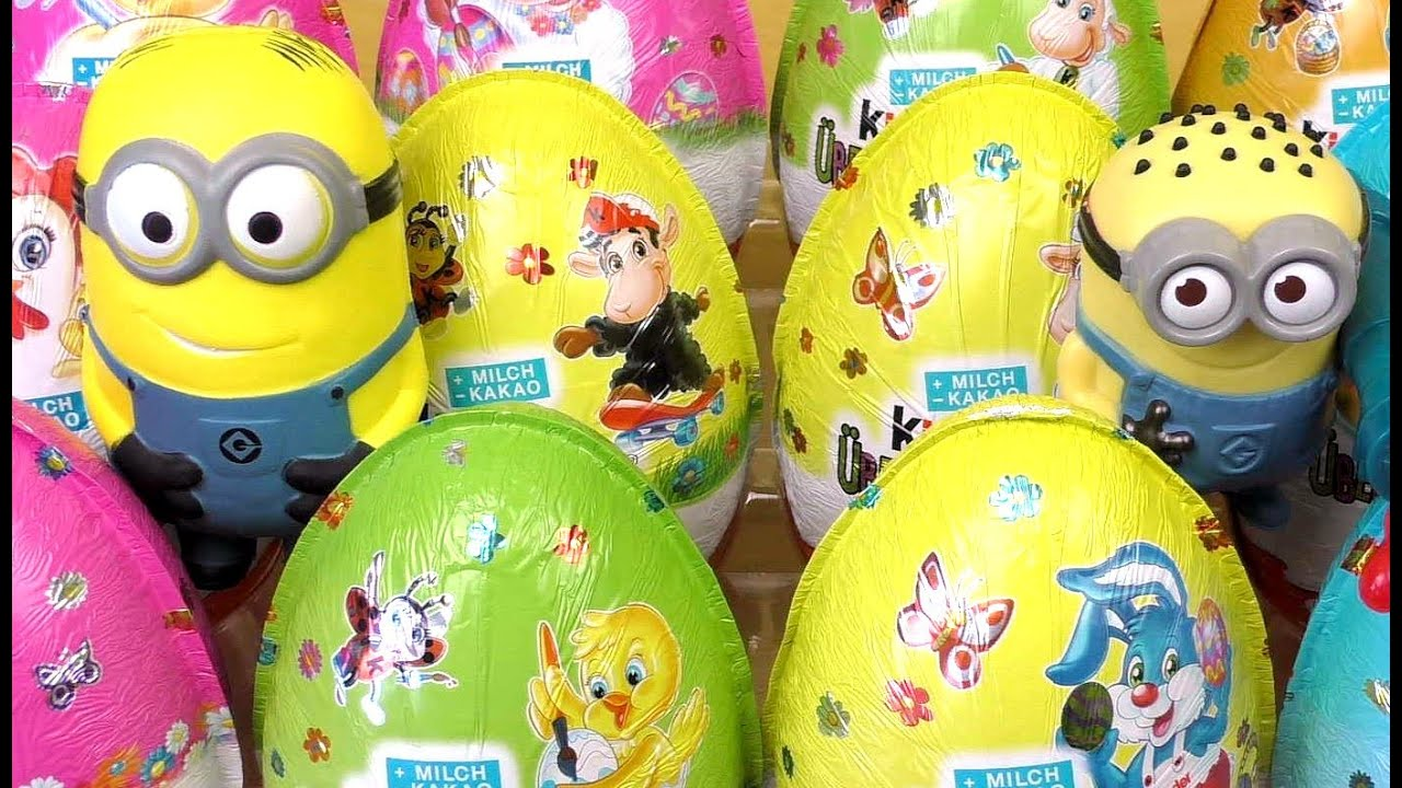 5dacc66fee MINIONS KINDER Surprise MAXI Easter 2015 Eggs  Commentary  - YouTube