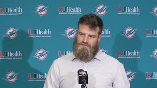 Dolphins Live: Ryan Fitzpatrick meets with the media