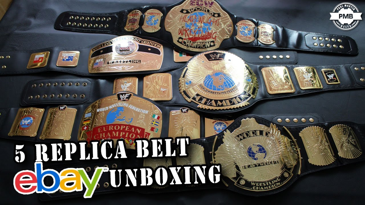 5 WWE Replica Belt Ebay Unboxing
