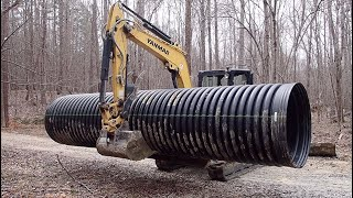 Replacing An Undersized Road Culvert Pipe