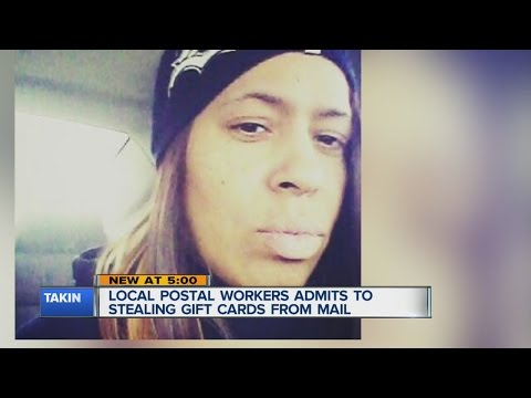 Postal worker accused of stealing gift cards