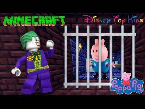 MINECRAFT - PIG GEORGE DA FAMÍLIA PEPPA PIG FOI PRESO PELO CORINGA | EM PORTUGUES!!! STUCK BY JOKER