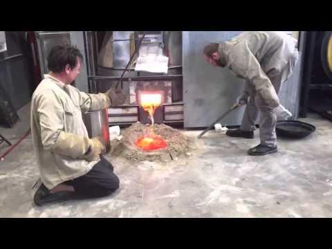 Canberra glassworks - pot furnace empty