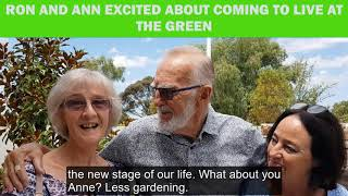 Ron and Ann excited to be coming to live at The Green