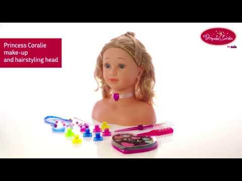 Klein Toys Princess Cie Make Up And Hairstyling Head 5240