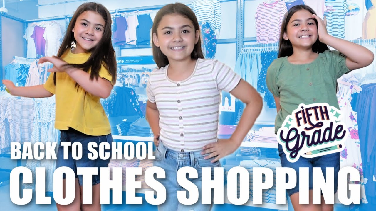 BACK TO SCHOOL CLOTHES SHOPPING HAUL | KID BUYING her Outfit for the FIRST DAY OF SCHOOL *5th GRADE*