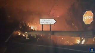 Unos 8.000 evacuados por el fuego que avanza sin control en Gran Canaria