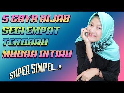 5 Tutorial Hijab Terbaru Yang Mudah Ditiru Dengan Hijab Segi 4 Cantik #NMY Hijab Tutorials