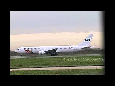 SAS Scandinavian Airline System Boeing 767-383ER OY-KDO in operation at London Heathrow
