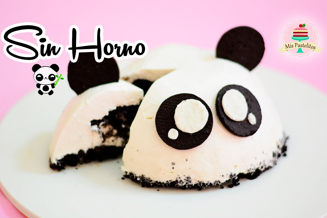 Cheesecake De Oreo Sin Horno Panda Mis Pastelitos Youtube