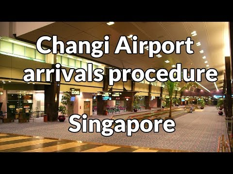 Singapore: Changi airport (SIN) Terminal 1 arrivals procedure English
