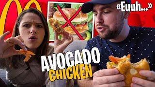 Dégustation du Chicken Avocado McDo avec @Pidi (on est hyper déçu...)