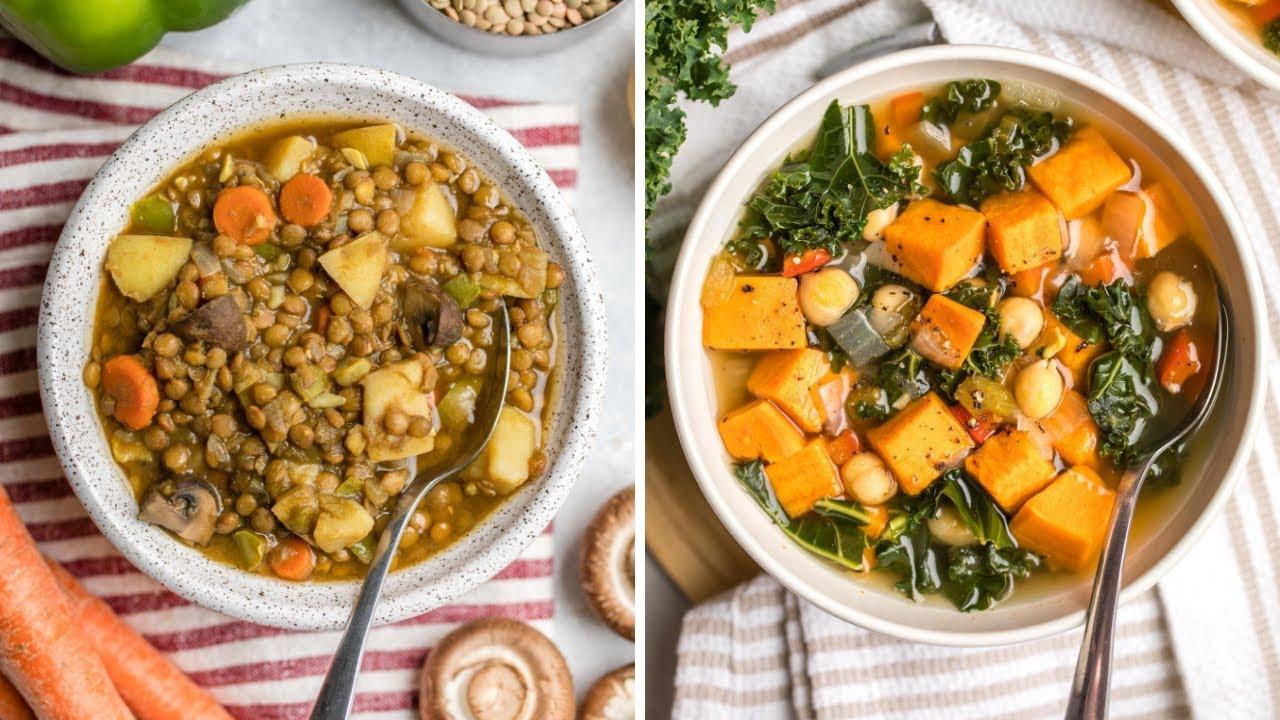 Cozy Vegan Soup Recipes    Healthy + Easy - YouTube