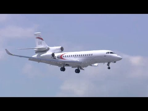 Le vol du Falcon 8X au salon du Bourget