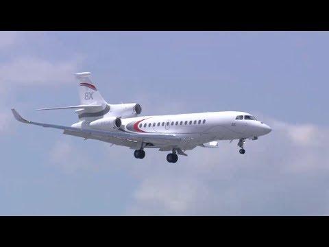 Le vol du Falcon 8X au salon du Bourget