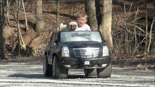 PUG LOVES POWER WHEELS RIDE ON CARS FOR KIDS