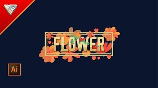 Flower Typography | Text Effect |Illustrator Tutorial