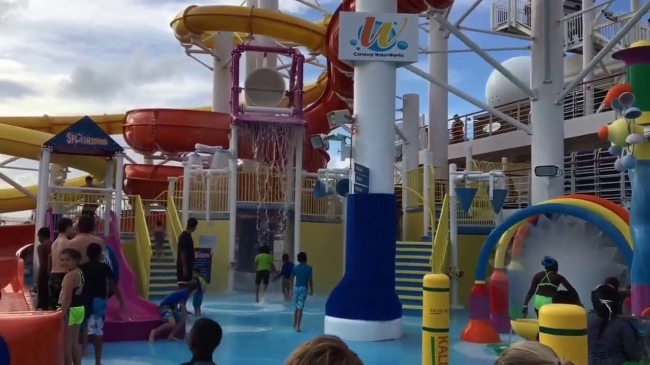 Carnival Vista Water Works 2016! - YouTube