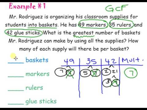 GCF/LCM Word Problems - YouTube