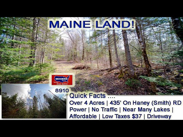 Land For Sale In Maine Video | Cheap Real Estate Price, Big 2020 Value MOOERS REALTY #8910