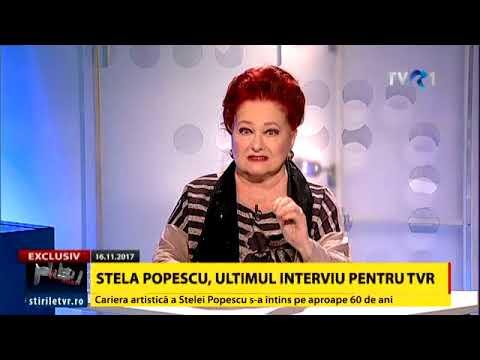 Stela Popescu, ultimul interviu acordat TVR (fragment)