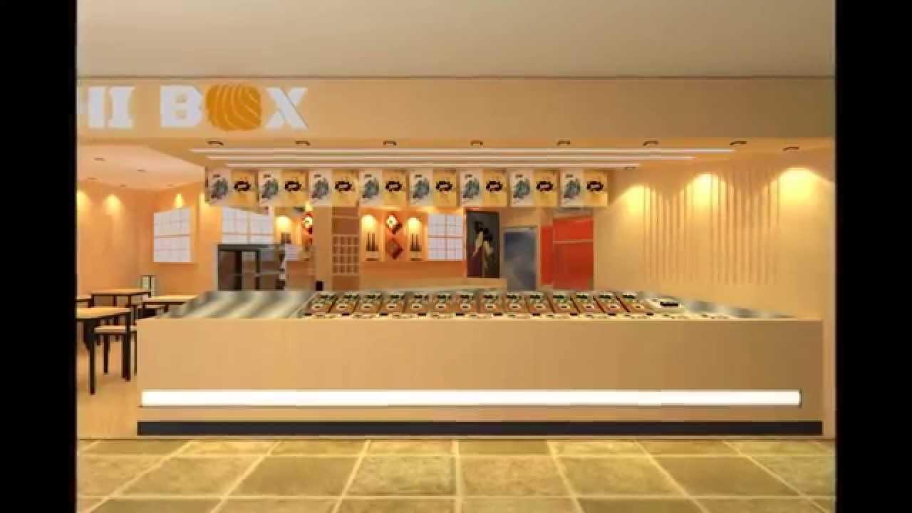 sushi kiosk concept design - YouTube