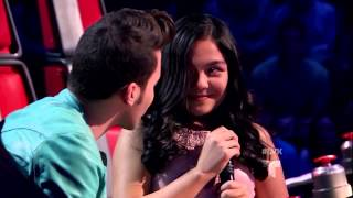 """Paloma Moreno canta """"Siempre hace frio"""" en La Voz Kids"""