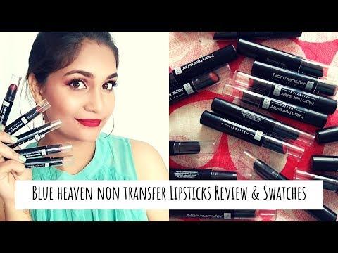 Blue Heaven Non Transfer Lipsticks Review & Swatches | 18 Shades | Nidhi Katiyar