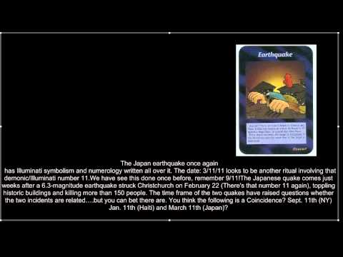 Japan's Earthquake Predicted by ILLUMINATI Card Game.mp4