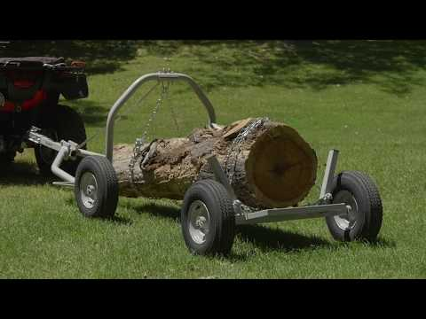 Strongway ATV Log Skidding Arch And Holder  1000-Lb. Capacity 24in. Dia. Capacity