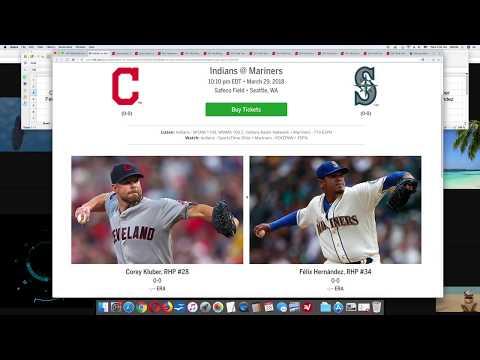 mlb-advanced-pitcher-stats-kluber-vs-felix-hernandez-3/29/18-baseball