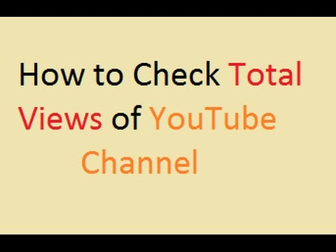 How to check Total Views, Last week or custom date views on Youtube || OnlineTipsZone