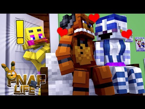 Minecraft FNAF LIFE!! - CHICA CATCHES FREDDY HAVING AN AFFAIR WITH BALLORA - FNAF SISTER LOCATION!!