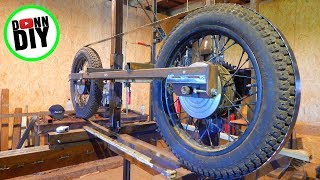 Band Wheels From Motorcycle Wheels - Band Sawmill Build #16