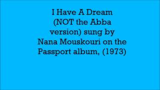 I Have A Dream by Nana Mouskouri (1973) Passport album