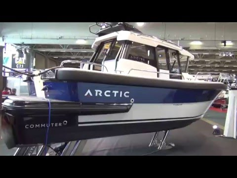 Arctic Commuter 25 on Sweden and Finland boat exhibitions.