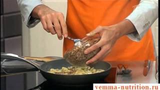 Гречневая каша с грибами и сыром. Р.Нигматуллин Рецепт