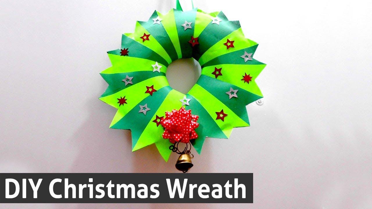 Diy Christmas Wreath Idea How To Make Christmas Wreath