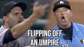 Pitcher gives umpire the middle finger, a breakdown